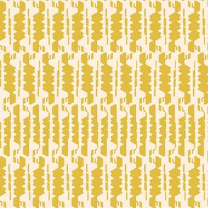 Mid-Century Modern Mustard Pattern