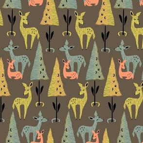 Deer Dwelling at Dusk