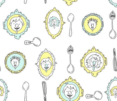 Spoon Koalas White fabric by busy_work_ on Spoonflower - custom fabric