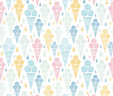 Ice cream Textured Delicous Treat fabric - oksancia ...