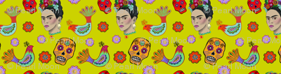 Frida on Yellow