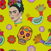 Frida on Yellow