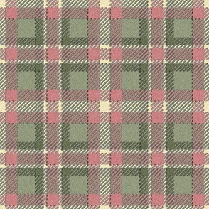 3-D Blush and Moss Plaid