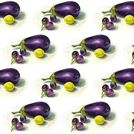 eggplants and lime fabric by valeriakondor on Spoonflower - custom fabric
