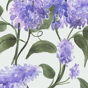 Watercolor Floral Lilacs