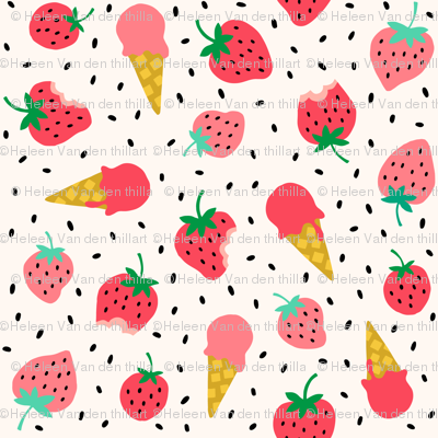 Strawberry summer ice cream party