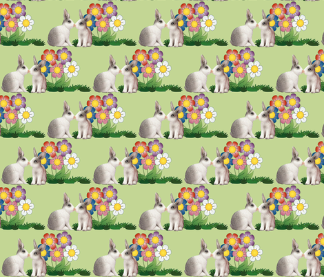 Easter_Bunnies fabric by dogdaze_ on Spoonflower - custom fabric