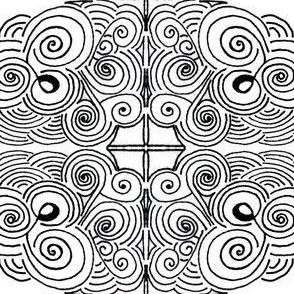 Black and White Swirls  | Zen Doodle |