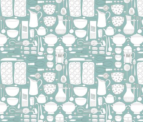 Nana's Vintage Kitchen!  fabric by pattyryboltdesigns on Spoonflower - custom fabric