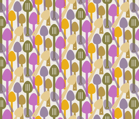 Spoons, Spoons, spoons fabric by pixabo on Spoonflower - custom fabric