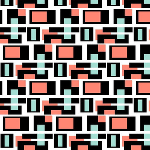Mint and Coral color blocks