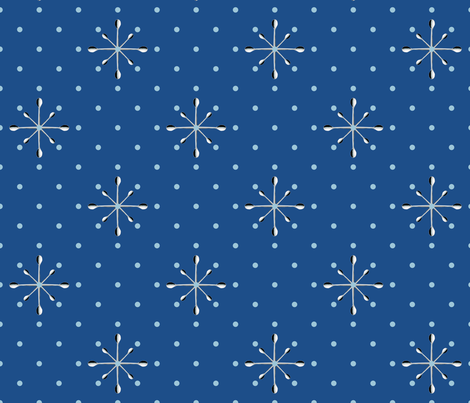 blue_spoons fabric by dempsey on Spoonflower - custom fabric