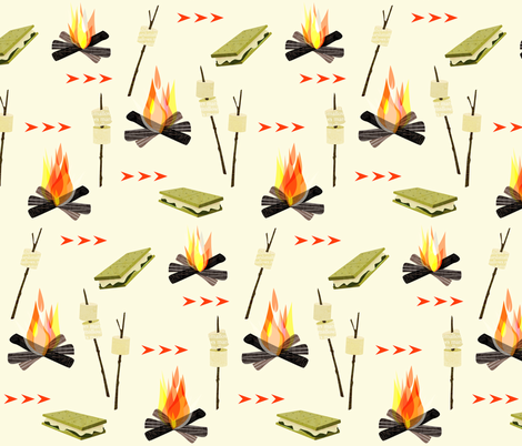 Sweet times camping fabric by mulberry_tree on Spoonflower - custom fabric