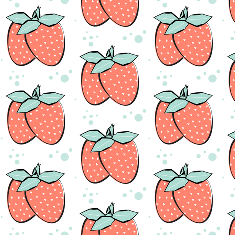 Strawberry Mojito fabric by pixabo on Spoonflower - custom fabric
