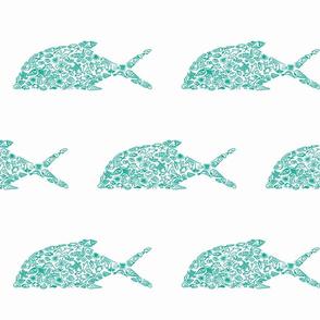 ulua with sea creatures