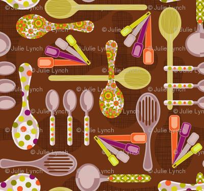 retro  kitchen spoons