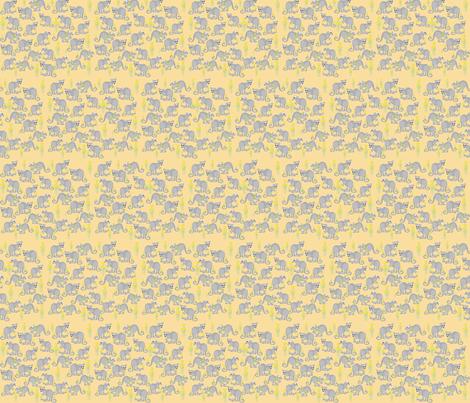 Joeys amongst the flowers rust fabric by karmacranes on Spoonflower - custom fabric