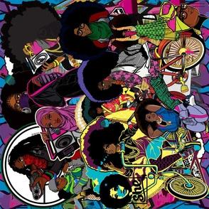 Focsi Afro Collage: Large Print 29 x 29