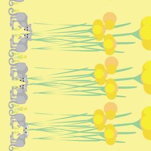 Joeys amongst the flowers yellow border