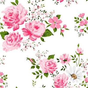 Pink cute roses