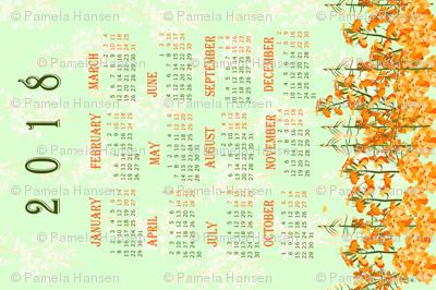 2017 Orange Butterfly Calendar