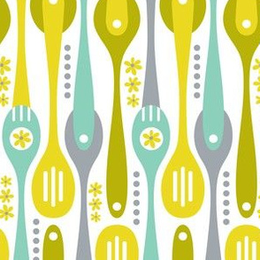 Kitchenette - Retro Spoons & Utensils