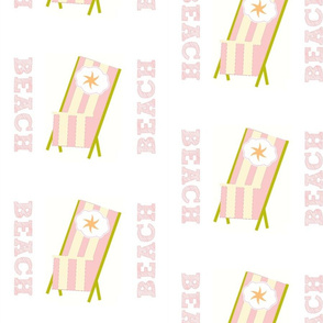 My Beach Chair Star - Pink Stripes Small