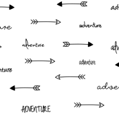 Adventure Arrows Black and White