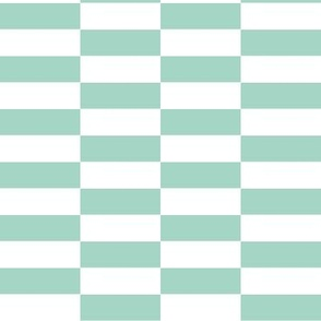 white mint checkerboard stripes