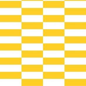 white yellow checkerboard stripes