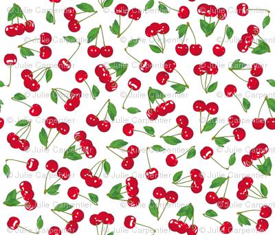 Cherries on crispy WHITE