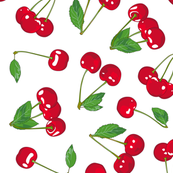 Cherries on crispy WHITE