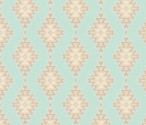 southwest_baby_paint_and_paper-ed fabric by sugarpinedesign on Spoonflower - custom fabric