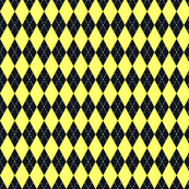 Argyle Black&Yellow/White