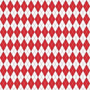 Argyle Red/White