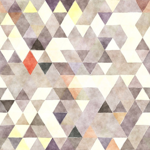 Early Morning Watercolor Triangles
