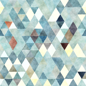 Foggy Window Watercolor Triangles