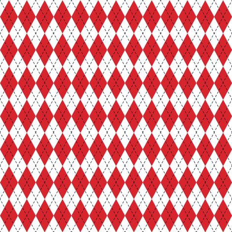 Argyle Red& White/Black fabric by juliesfabrics on Spoonflower - custom fabric