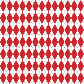 Argyle Red& White/Black