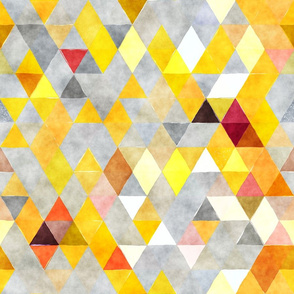 Lemons in the rain Watercolor Triangles
