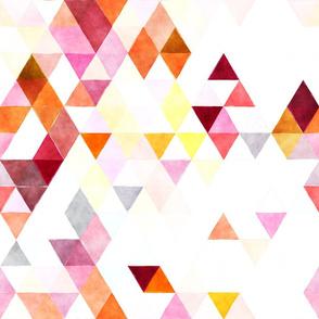 Candied Orange Peel Watercolor Triangles