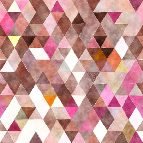 Purple Pop Watercolor Triangles