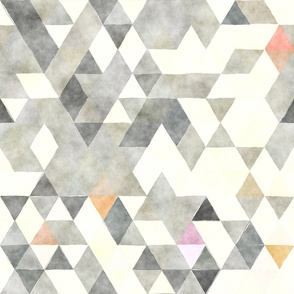 Touch of Peach Watercolor Triangles