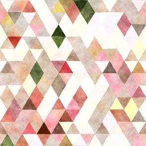 Rose garden Watercolor Triangles