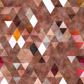 Chocolate Candy Watercolor Triangles