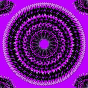 Purpurowe piora sukni cyganskiej