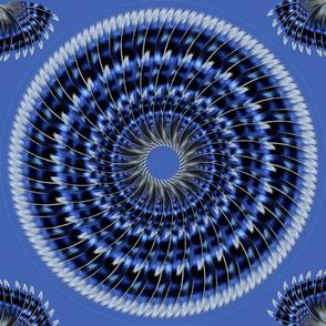 Niebieskie piora sukni cyganskiej