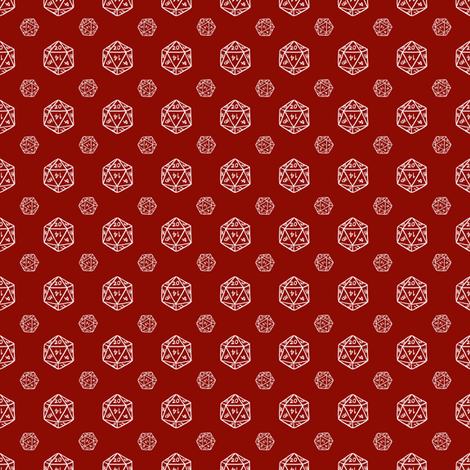 Burgundy d20 fabric by pi-ratical on Spoonflower - custom fabric