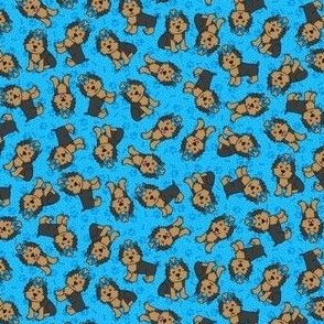 Yorkie Party (Blue Small)