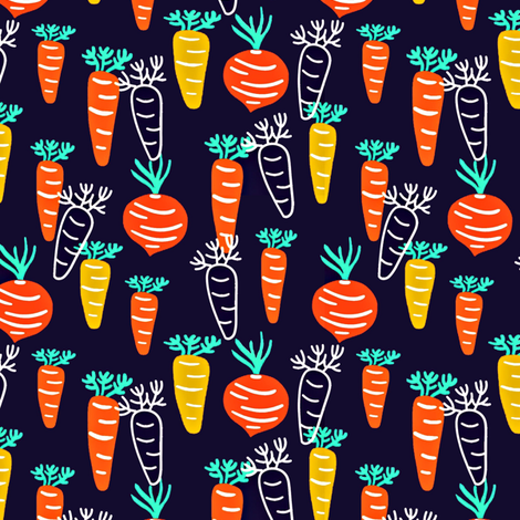 Root Vegetables fabric by susan_polston on Spoonflower - custom fabric